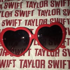 Taylor Swift Red Sunglasses